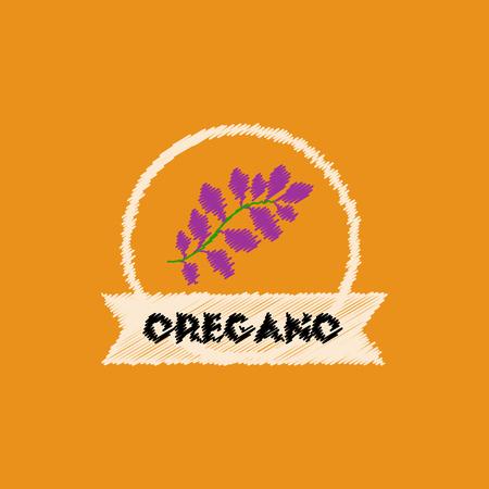 oregano: flat vector icon design collection Kitchenware seasoning oregano