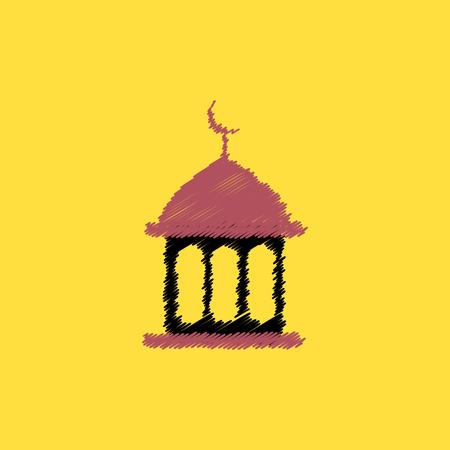 flat vector icon design collection ramadan festival