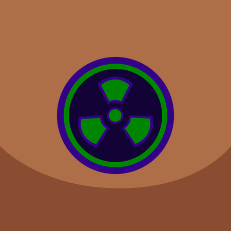 fission: Radiation Icon. May present radiation threat or Danger, Nuclear icon, Nuclear energy, nuclear power. Vector illustration.