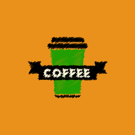 flat vector icon design collection coffee to go
