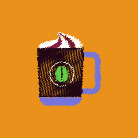 flat vector icon design collection cup of cappuccino Illustration