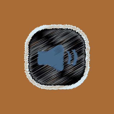 pause button: flat vector icon design collection button music