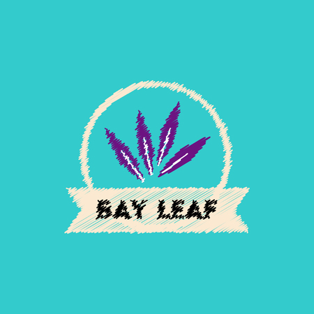 flat vector icon design collection Kitchenware seasoning bay leaf Illustration