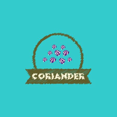 flat vector icon design collection Kitchenware seasoning coriander