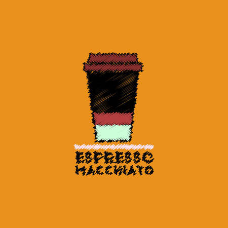 flat vector icon design collection espresso macchiato to go Illustration