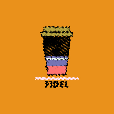 flat vector icon design collection fidel coffee to go Illustration