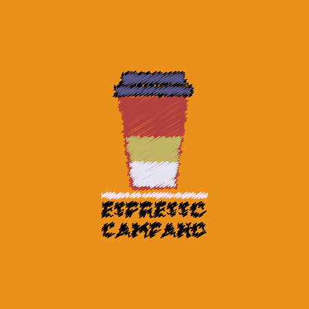 macchiato: flat vector icon design collection espresso campano to go