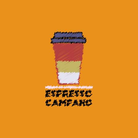 flat vector icon design collection espresso campano to go