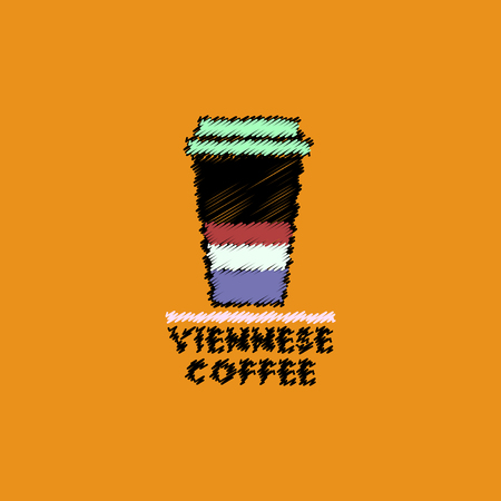 flat vector icon design collection viennese coffee to go