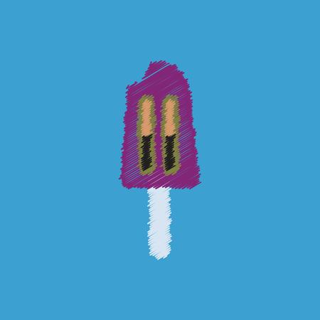 flat vector icon design collection ice cream