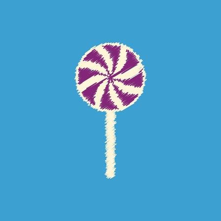 sucking: flat vector icon design collection bonbon candy Illustration