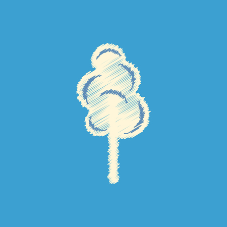 flat vector icon design collection cotton candy