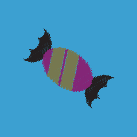 flat vector icon design collection bonbon candy Illustration