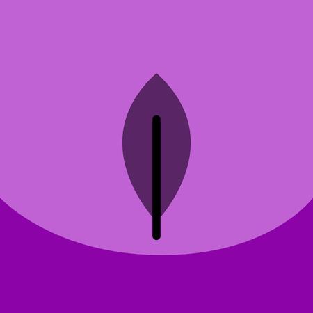 flat vector icon design collection tree leaf Illustration