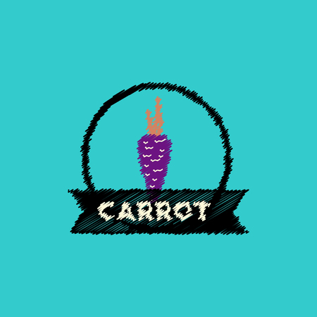 carotene: flat vector icon design collection carrot emblem Illustration