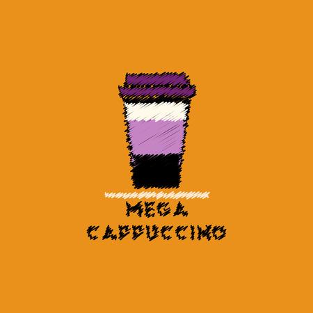 flat vector icon design collection mega cappuccino