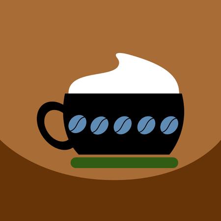 flat vector icon design collection cappuccino coffee