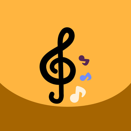 crotchet: flat vector icon design collection music note