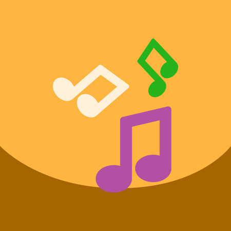 quaver: flat vector icon design collection music note