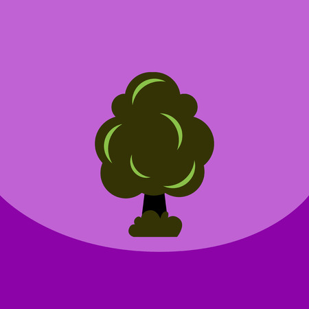 flat vector icon design collection tree silhouette
