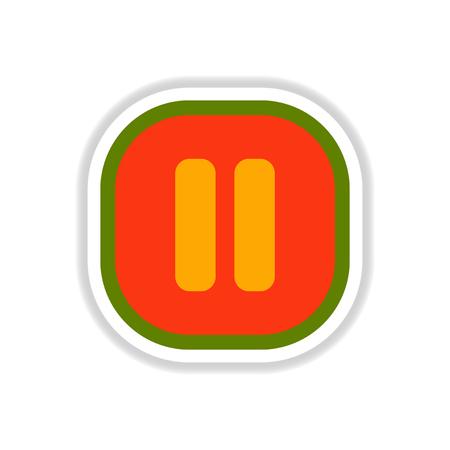 color label design vector icon design button music