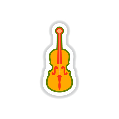 color label design collection of musical instrument violin