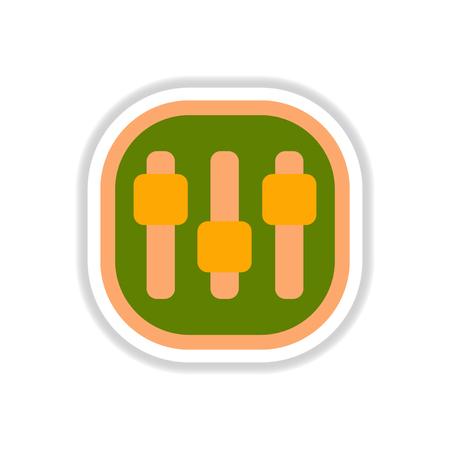 color label design vector icon design button music settings Illustration