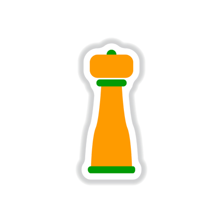 pepper grinder: Label icon on design sticker collection pepper shaker
