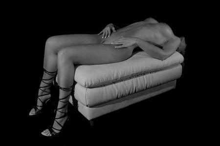 mujer desnuda de espalda: Una joven mujer muy sexy  Foto de archivo