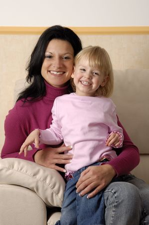 A mother with her young child  Stock Photo