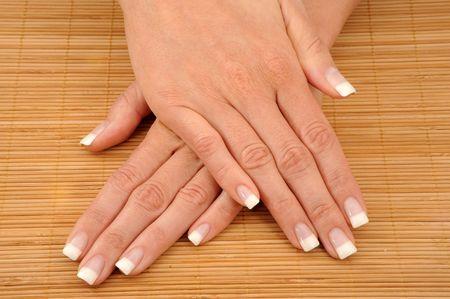 Very beautyful French Nails on phloem