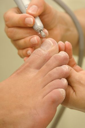 maintain: Feet maintain with medical pedicure