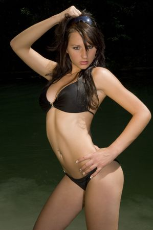 A sexy woman in the water photo