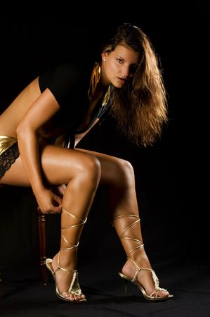 erotically: A very sexy young woman