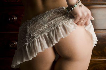 nice butt: A very nice nacked butt Stock Photo