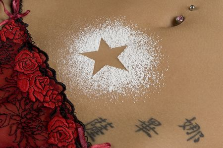 erotically: A nice belly with a star