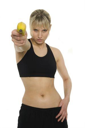 naughty woman: A naughty woman with a banana
