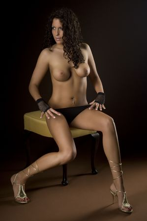 sensually: A very sexy young woman