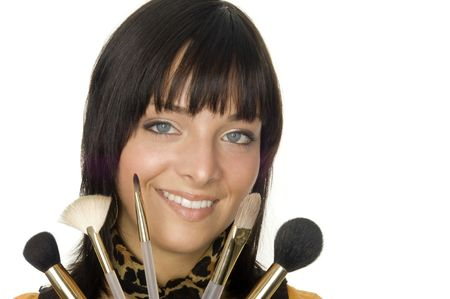 beautiful and friendly smiling make up artist Stock Photo - 5034249