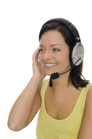 young woman working in a callcenter Stock Photo - 5529718