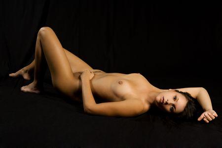 beautiful woman poses sexy