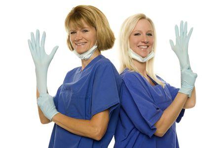 rubber gloves: dental assistant