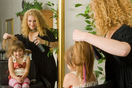 haircutter: hairstyle Stock Photo