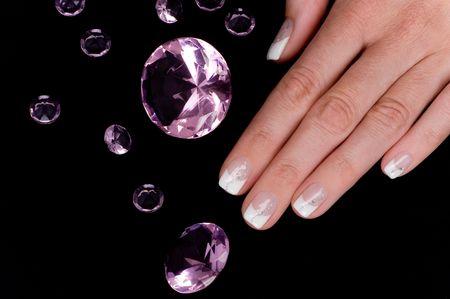 nail studio: manicure Stock Photo