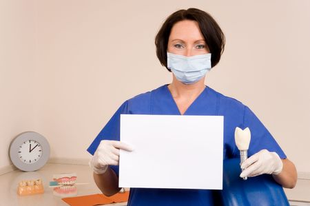 implantology: dentist Stock Photo