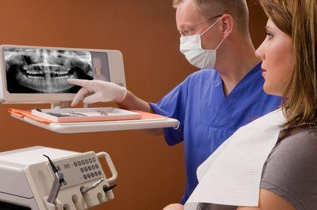 dental prophylaxis: dentist Stock Photo