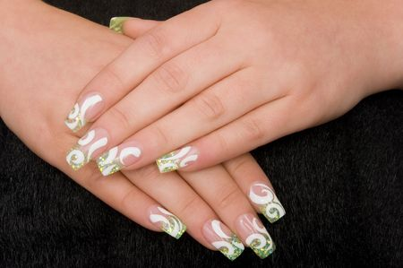 nail lacquer: manicure Stock Photo