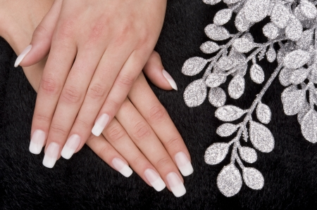 nail care: manicure Stock Photo