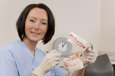 assistent: dentist Stock Photo