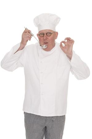 comunicacion no verbal: Cook Foto de archivo